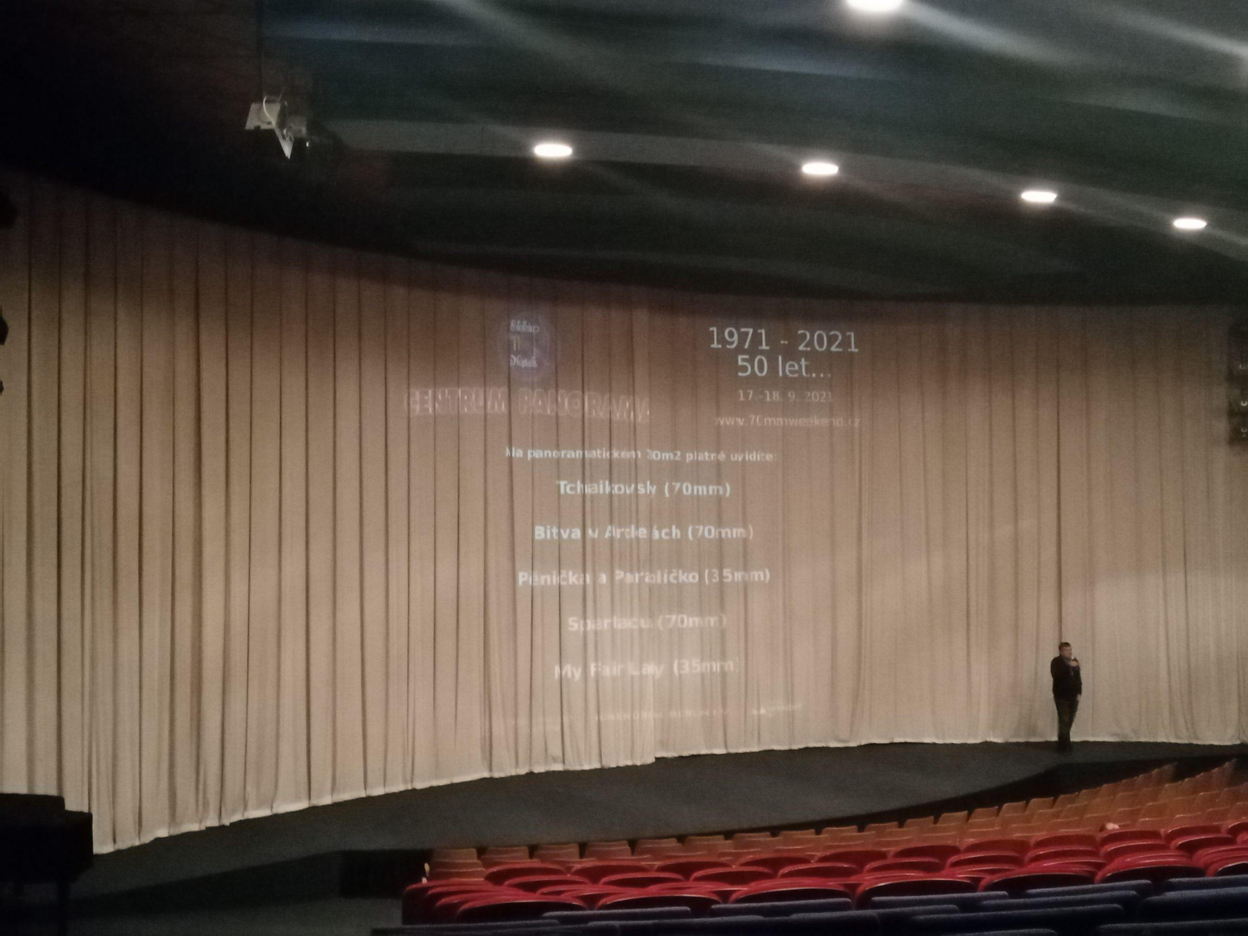 Fortlaufende 70 mm-Wide Film-Festivals: Centrum Panorama Varnsdorf seit 2015